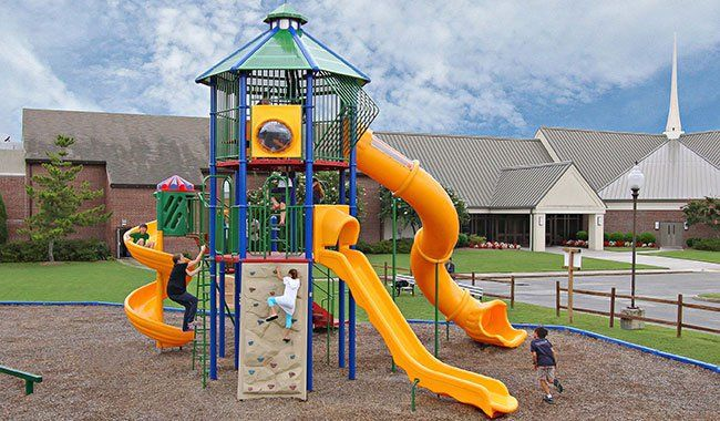 Our large selection of playground designs for churches come in every shape, size and budget, with fun and challenging play elements for children of any age.