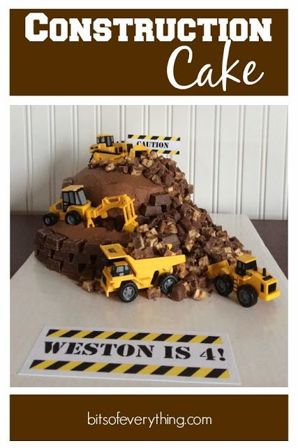 Construction Birthday Cake #birthday #cake  blog.bitsofeverything.com