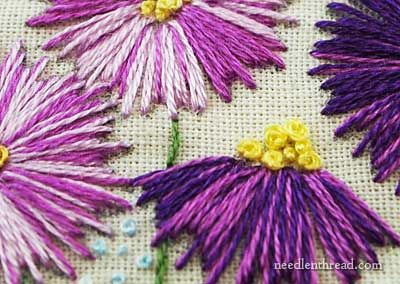 Simple is Good: Straight Stitch Embroidered Flowers – Needle'nThread.com