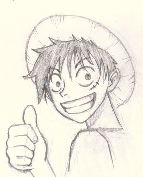 How to draw luffy from one piece digital painting and for Pictures to draw on canvas