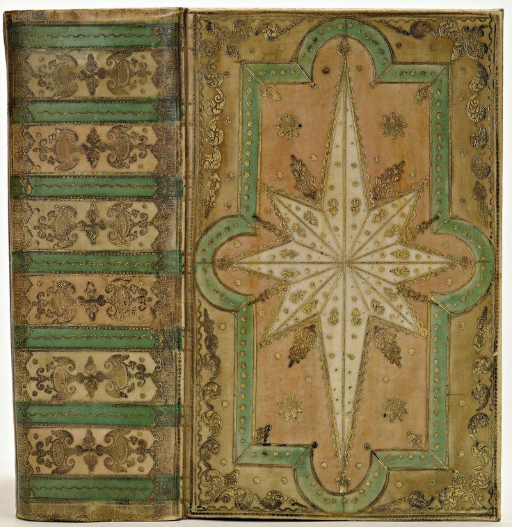 Band van blank perkament, oranjerose, licht grijsbruin en helder groen beschilderd 1739-1750