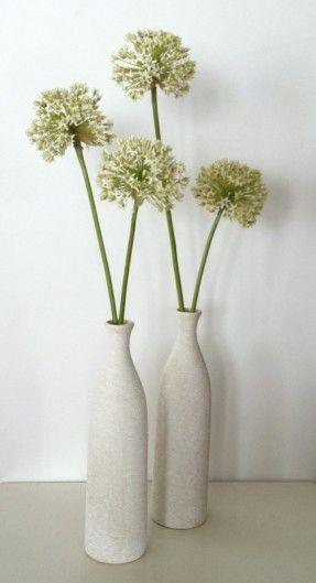 modern white flower arrangements - Google Search