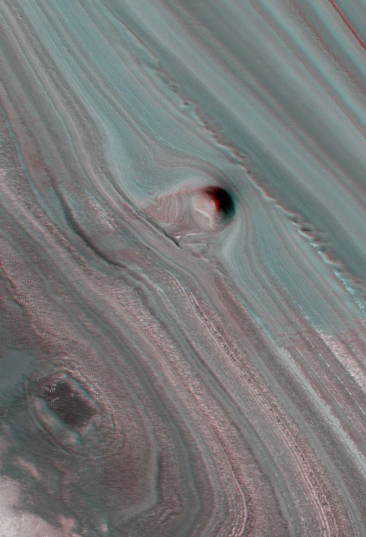 Layered Deposits Near the North Pole of Mars (3D) NASA/JPL/ University of Arizona