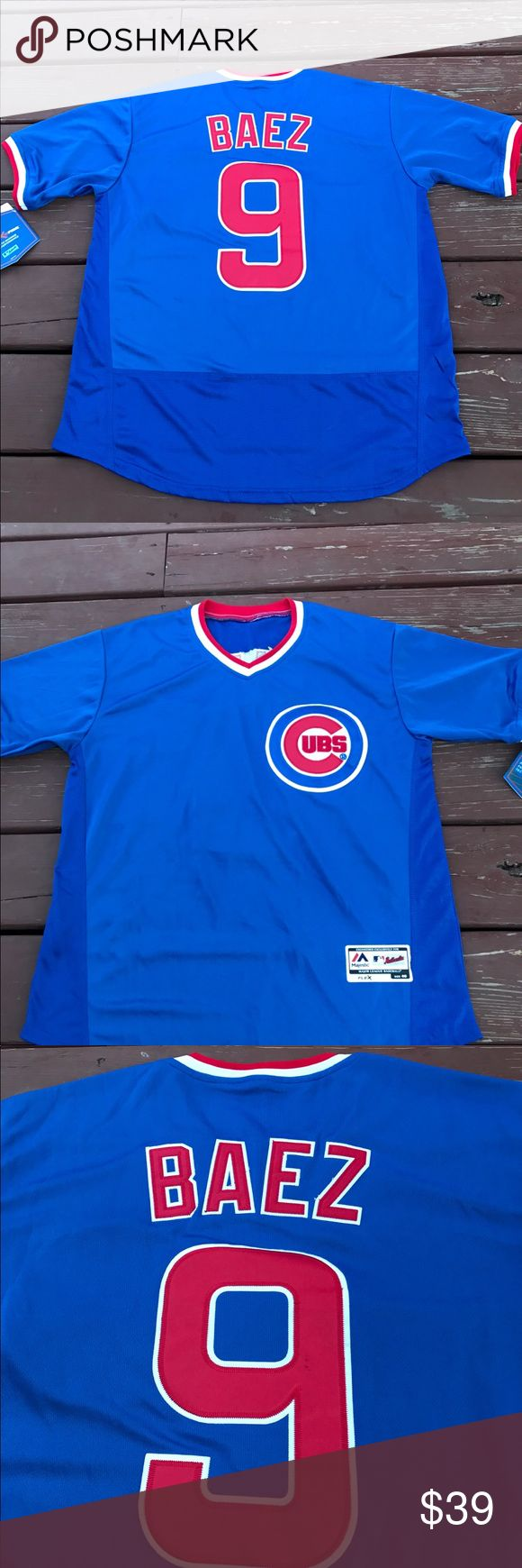 Men's Javier Baez Cubs 1984 Throwback Jersey (M) Men's Chicago Cubs Javier Baez 1984 Majestic Athletic  Throwback Jersey. Brand new with tags, size Medium(40) Flex base On Field jersey. I have a few more of these available in different sizes, please check my listings for more. I recently closed my retail store and am liquidating all my inventory. Over 300 jerseys available for Men, Women and kids. Need a Cubs W flag? How about Cubs World Series patches? Got em! If you don't see what your…