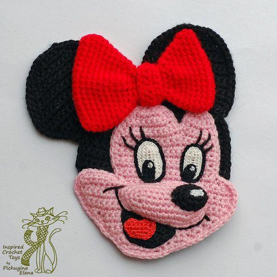 Crochet Patterns. Cartoon Appliques. Simba. Minnie. Patch.