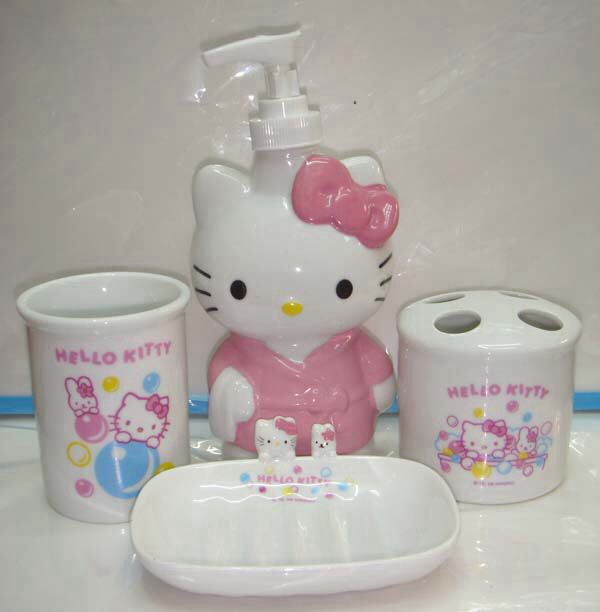 hello kitty bathroom set hello kitty pinterest hello kitty bathroom kitty and bathroom. Black Bedroom Furniture Sets. Home Design Ideas