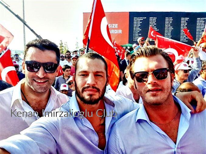 #kenaİmirzalıoğlul and #KıvançTatlıtuğ at #Yenikapı (7/8/2016).