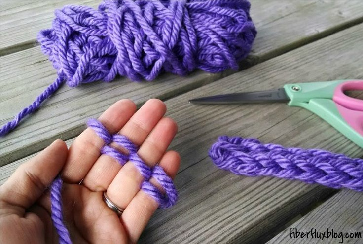 Fiber Flux...Adventures in Stitching: How to Finger Knit (Photo + Video Tutorial)
