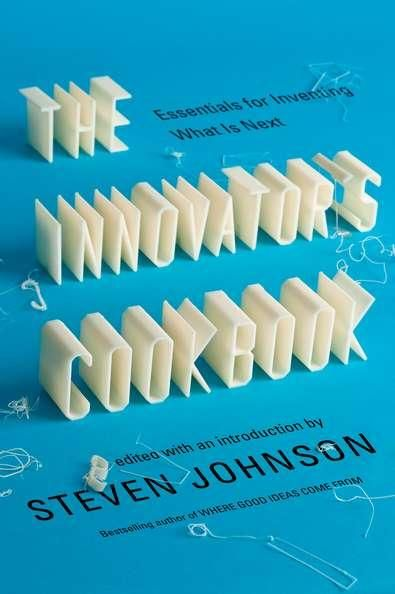 The Innovator's Cookbook cover design. The title letters were made using a MakerBot 3D printer and then photographed. #typography