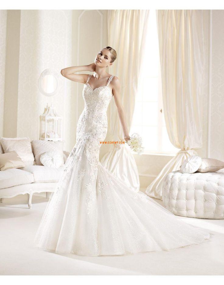 Axelband Dragkedja Dropped Lyx Bröllopsklänningar