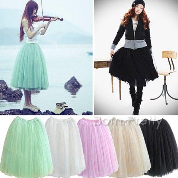 $19.61 Pretty Multi Layer Bouffant Skirt Bubble Skirt - BornPrettyStore.com