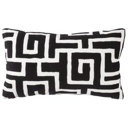 Decorative Pillow Maze Black 12x20
