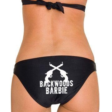 Southern Sisters Designs - Backwoods Barbie Black Bikini Top and Bottom, $27.95 (http://www.southernsistersdesigns.com/backwoods-barbie-black-bikini-top-and-bottom/)