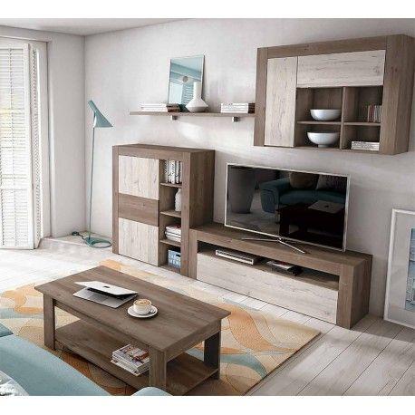 Apilable salón diseño nórdico 240 cm. acabado combinado Perkin y Ártico.