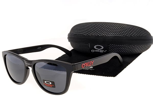 Oakley Frogskins Sunglasses Black Frame Dark Blue Lens , cheap  $16 - www.hats-malls.com