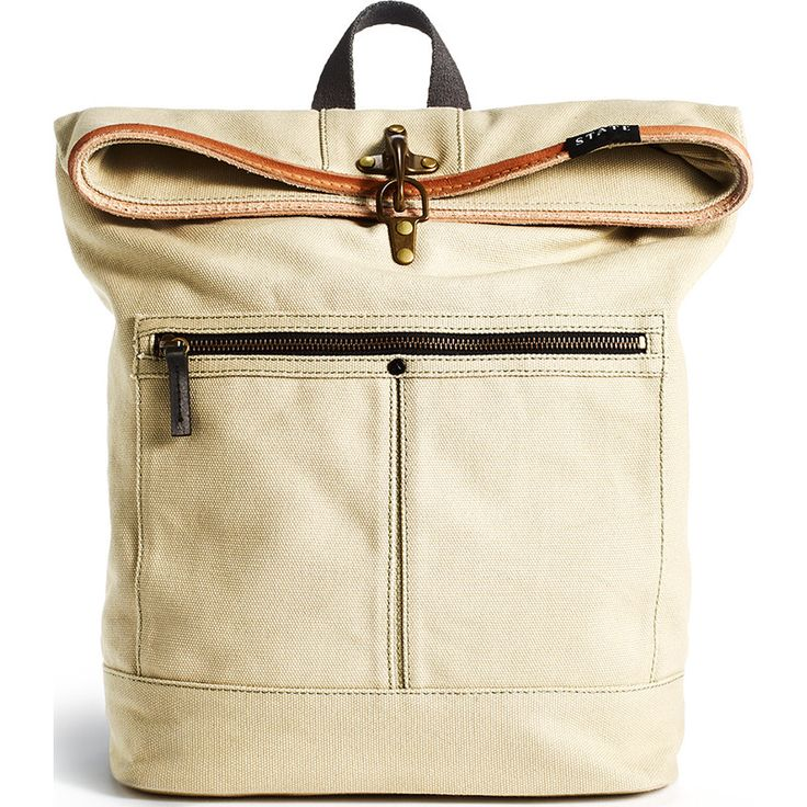 STATE Bags Smith Foldover Backpack | Stone from Sportique