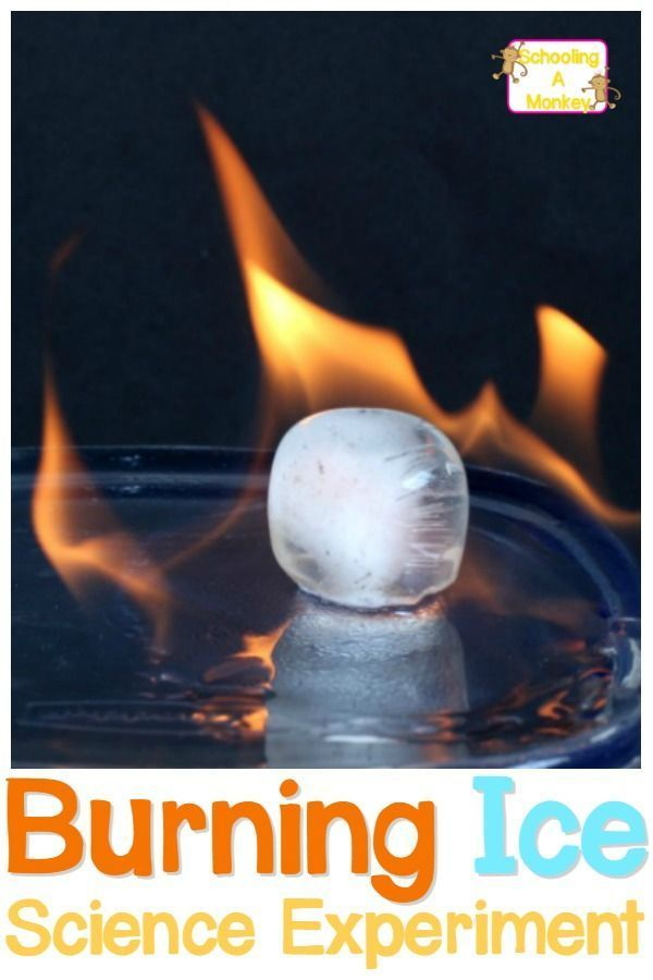 Ice Science Experiment Can You Get Ice To Burn Cool Science