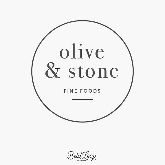 "Premade Logo Design - Boutique Logo, Circular, Round, Simple, Modern, Hipster, Small Business, Branding - ""Olive & Stone"""