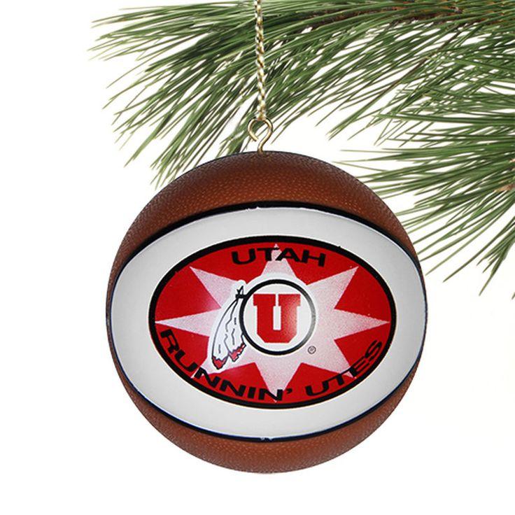 Utah Utes Replica Basketball Ornamet