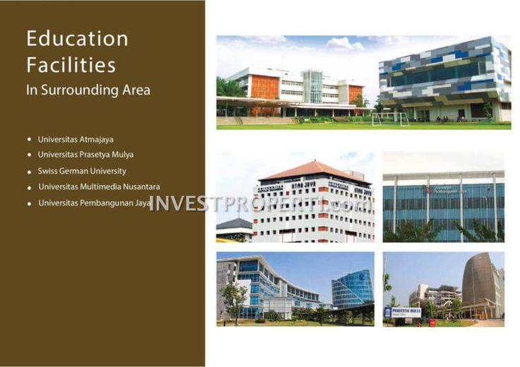 Fasilitas universitas sekitar apartemen Serpong Garden Cisauk.
