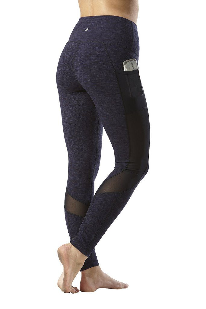 8293a2973e7ed Yogalicious High Waist Mesh Leggings with Phone Pocket Tummy Control Yoga  Pants Heather Blue Moon Medium >>> You can get additional details at the  image ...