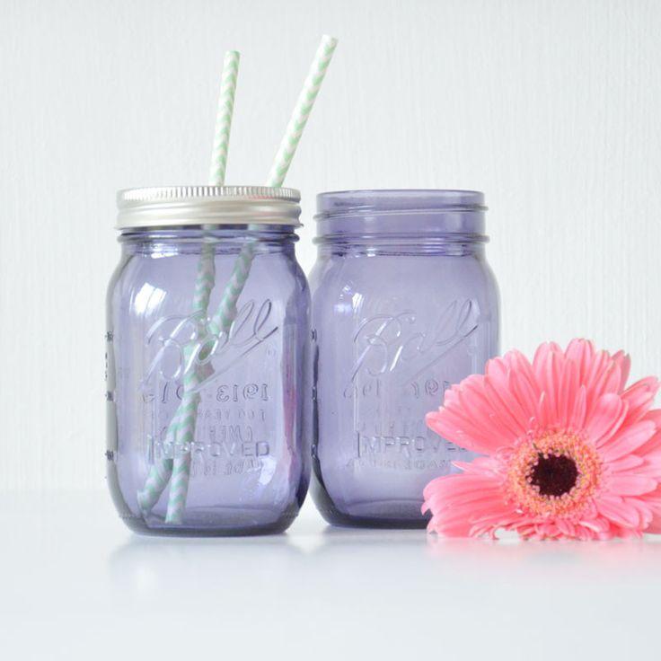 Ball Heritage Mason Glas in Lila | OH SO PRETTY | Online schöne Hochzeitsdeko & Brautaccessoires kaufen