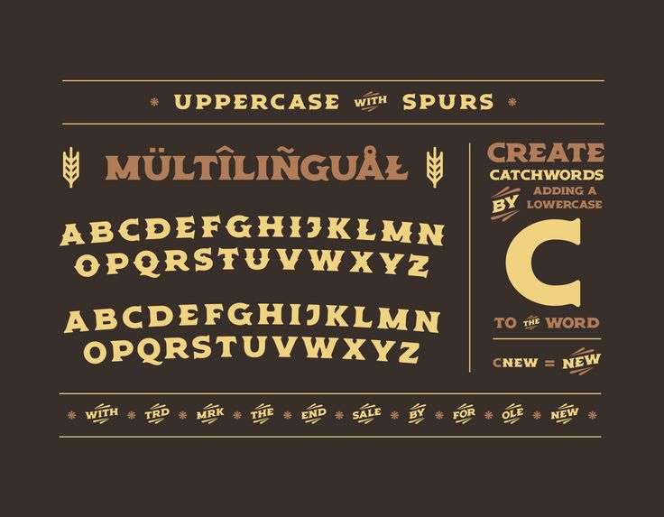 The latest font from VTCo. - an Americana inspired display font, Old Spirits! Perfect for branding & packaging, specifically for the spirits and brewing industries.