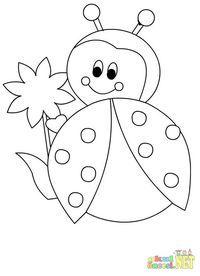 Uğur Böceği Boyama Bocek Boyama Kitabi Resim Sayfa 5