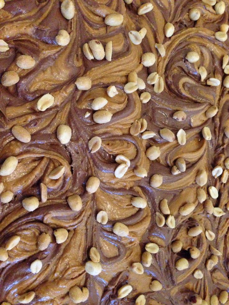 Brownie with peanut butter swirls
