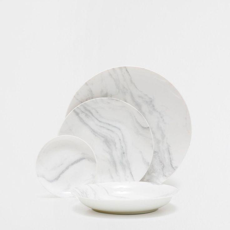 "<a href=""http://www.zarahome.com/gb/porcelain-marble-dinnerware/porcelain-marble-dinnerware-c0p7100518.html"" target=""_blank"">This</a> minimalist dining set:"