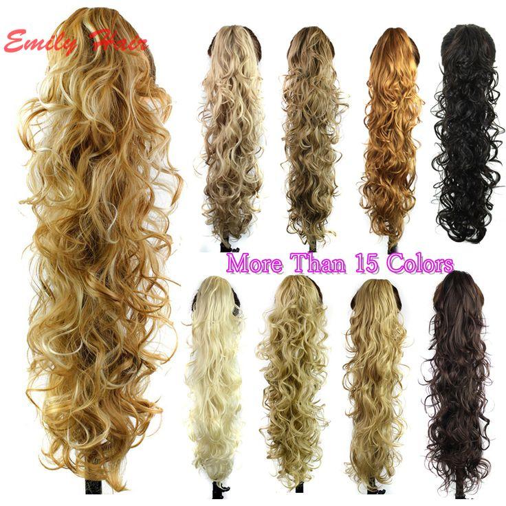 Claw Clip Ponytail Extension Wavy Curly Synthetic Ponytail Hair pieces postizos de cola de caballo larga coleta postizos