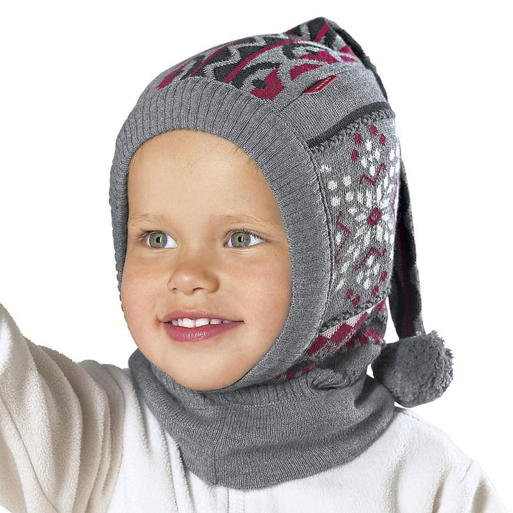MaxiMo Schal-Mütze Baby Wintermütze,