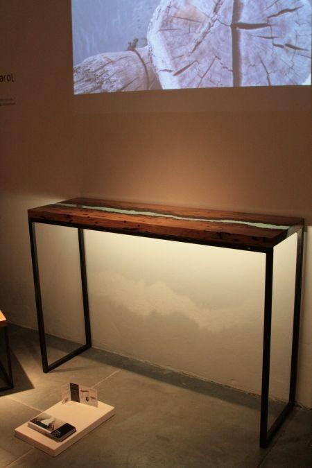 Trend :: Milano 2014 - Tappa da Rossana Orlandi Alcarol bricola old venetian wood and resin side table #milandesignweek2014 #fuorisalone
