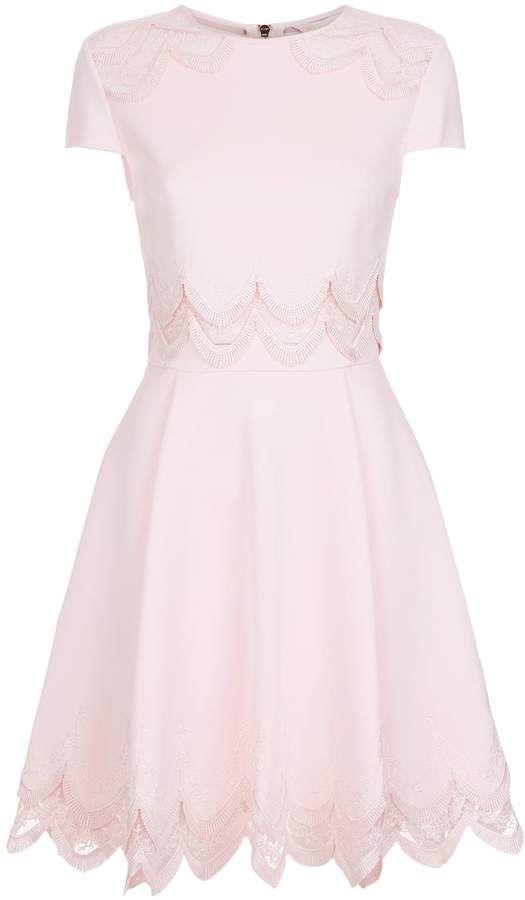 106090ffd05a Ted Baker Rehanna Embroidered Cap Skater Dress