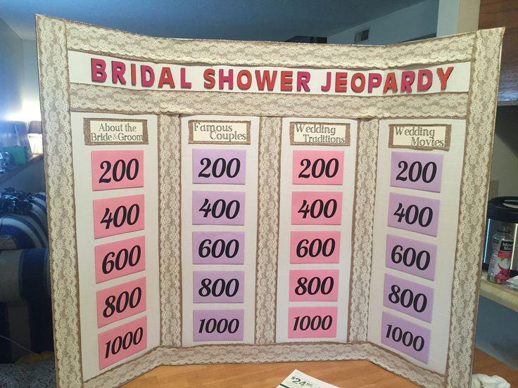 Bridal Shower Jeopardy!