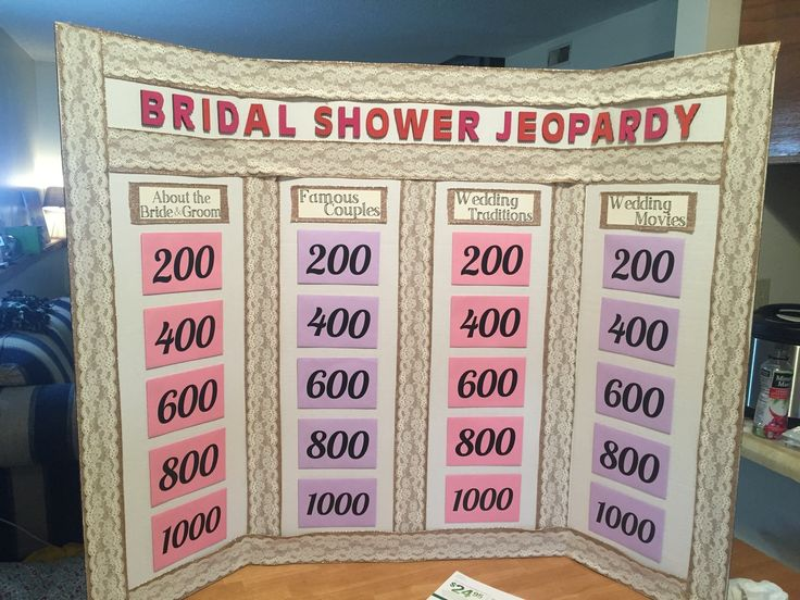 Bridal Shower Jeopardy!