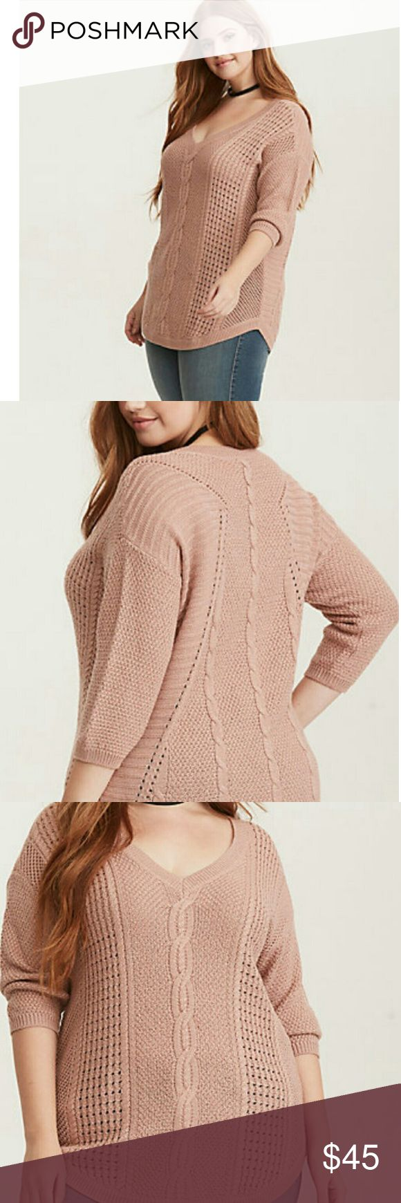 Torrid Blush Sweater Brand New, 1XL Brand New!!! Blush sweater, very beautiful, Never worn, with tags. torrid Sweaters Crew & Scoop Necks