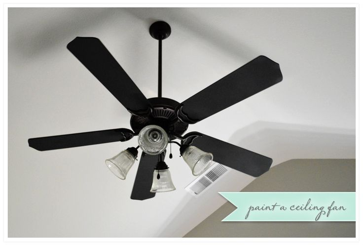 Transforming an ugly ceiling fan with spray paint. Awesome!
