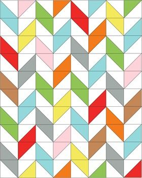 Nice tute for herringbone quilt using HSTs!
