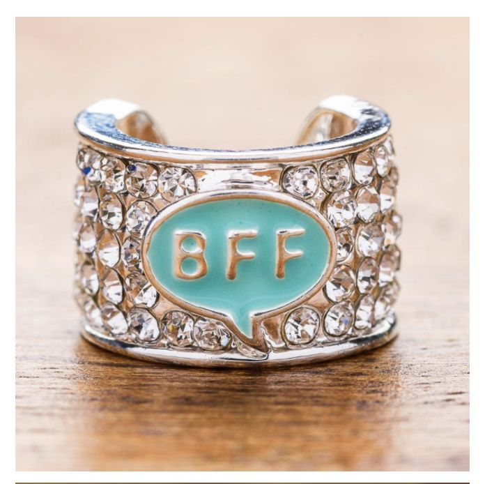 BFF Stethoscope Charm! A little glitter for your stethoscope-wearing best friend! Perfect for nurses, doctors, and all medical staff. Makes a thoughtful Valentine's Day, Christmas, or birthday.