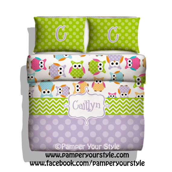 Owl Bedding Custom Toddler Bedding Owl By Pamperyourstyle 139 00 Polka Dot Chevron And Owl