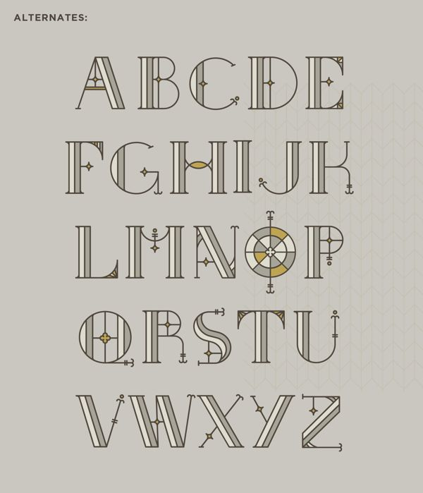 South Rose + Free Typeface by Sydney Goldstein, via Behance