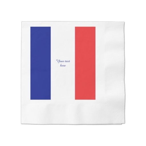 France flag paper napkin
