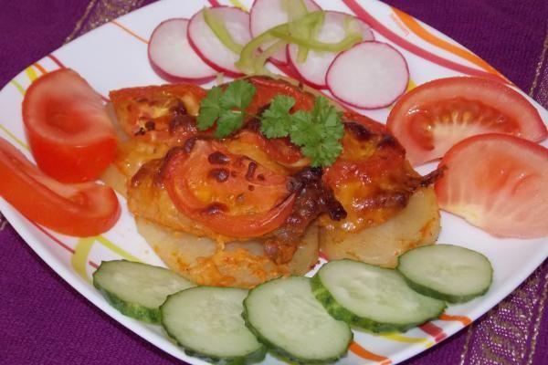 Свинина с картошкой под сыром в духовке   Национальная еда ...