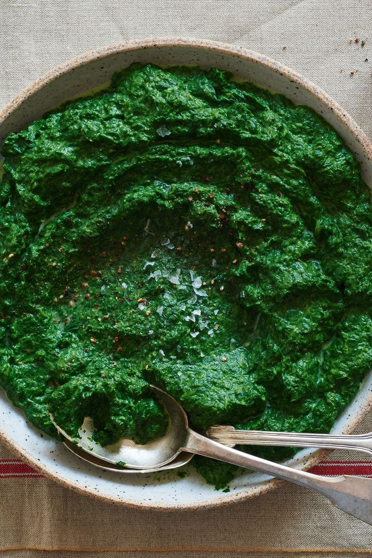 "NYT Cooking: ""I happen to have a minor passion for creamed spinach,"" Pierre Franey wrote in The Times in 1987. His passion shines here with this simple, richly flavored dish. Spinach that has been cooked briefly and pureed in a food processor is combined with a fast bechamel sauce. The result is just so good."