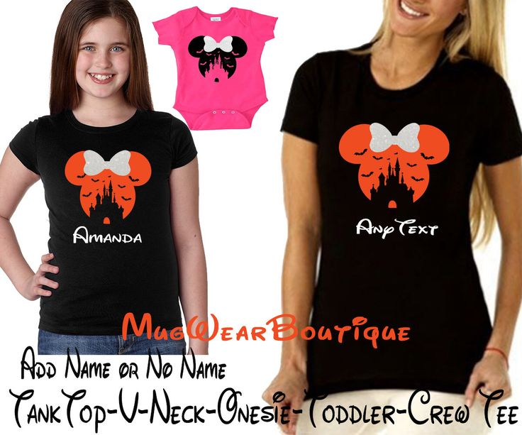 Disney Halloween Shirt, Glitter Minnie Mouse bow Personalized Shirt, Disney Family Shirt, Matching Disney Halloween Shirts, MNSSHP Shirt by MugWearBoutique on Etsy https://www.etsy.com/listing/502941958/disney-halloween-shirt-glitter-minnie