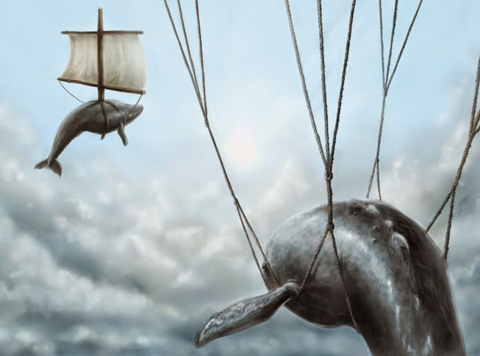 whale by julianaroad7     A baleia é a mãe primordial, a fêmea, a caverna. Traz em seu simbolismo a escuridão abissal e misteriosa do mar...