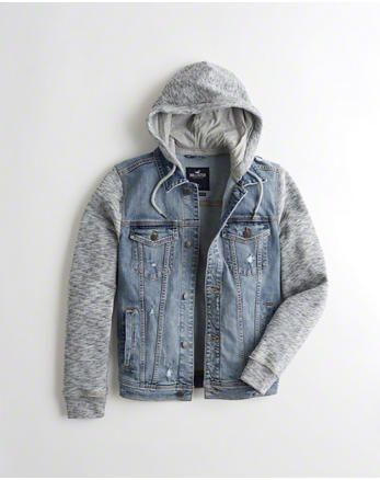 5e7da5ee0874 Hollister Hooded Denim Jacket