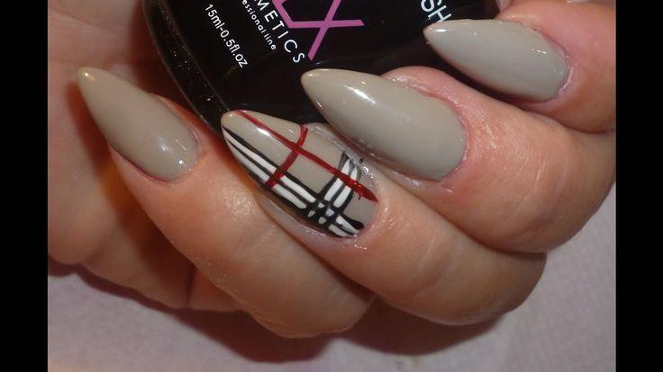 Καρό νύχια σε γκρι : ALX No 004