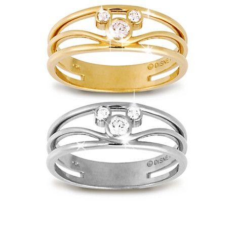 anel diamantes ouro disney